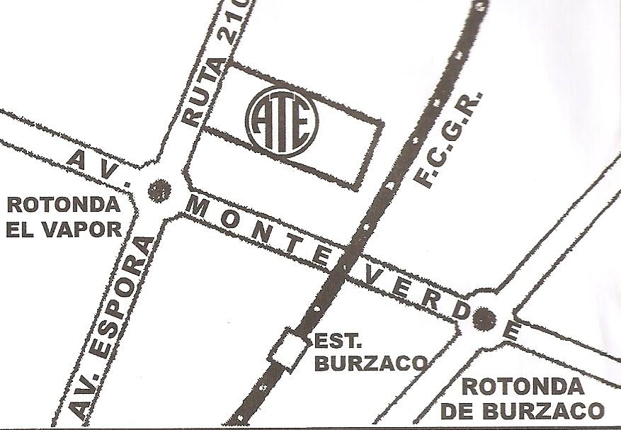 Mapa ATE Burzaco